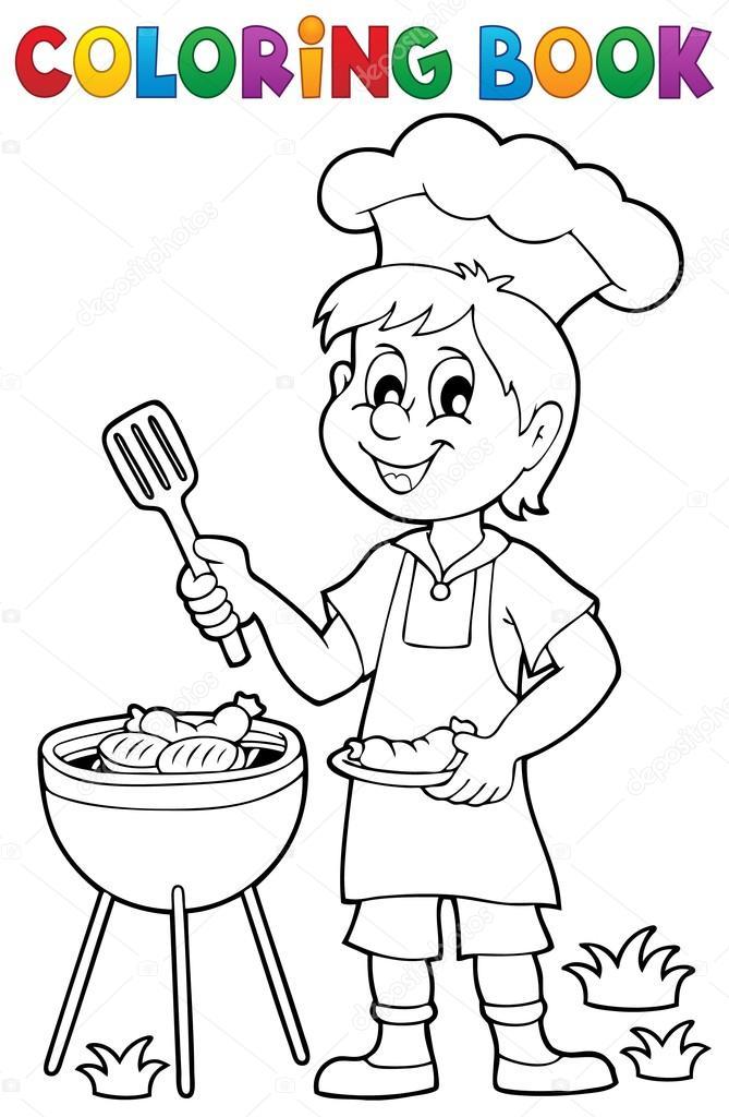 Imágenes: carne asada para dibujar | Tema de parrilla de libro para ...