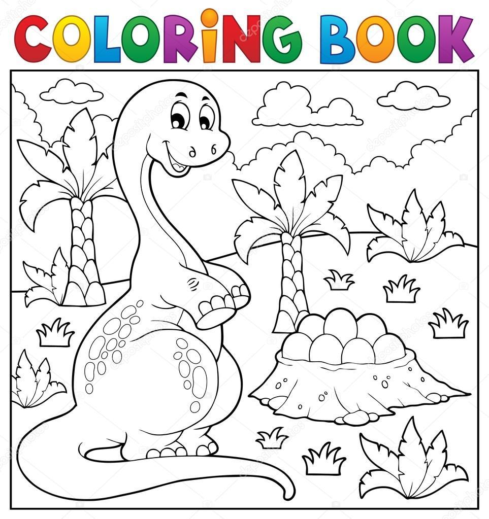 Tema de dinosaurios para colorear libro 8 — Archivo Imágenes ...