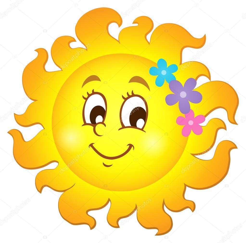 b78e8dc46 Imagem de tema de sol de primavera feliz 1 — Vetores de Stock ...