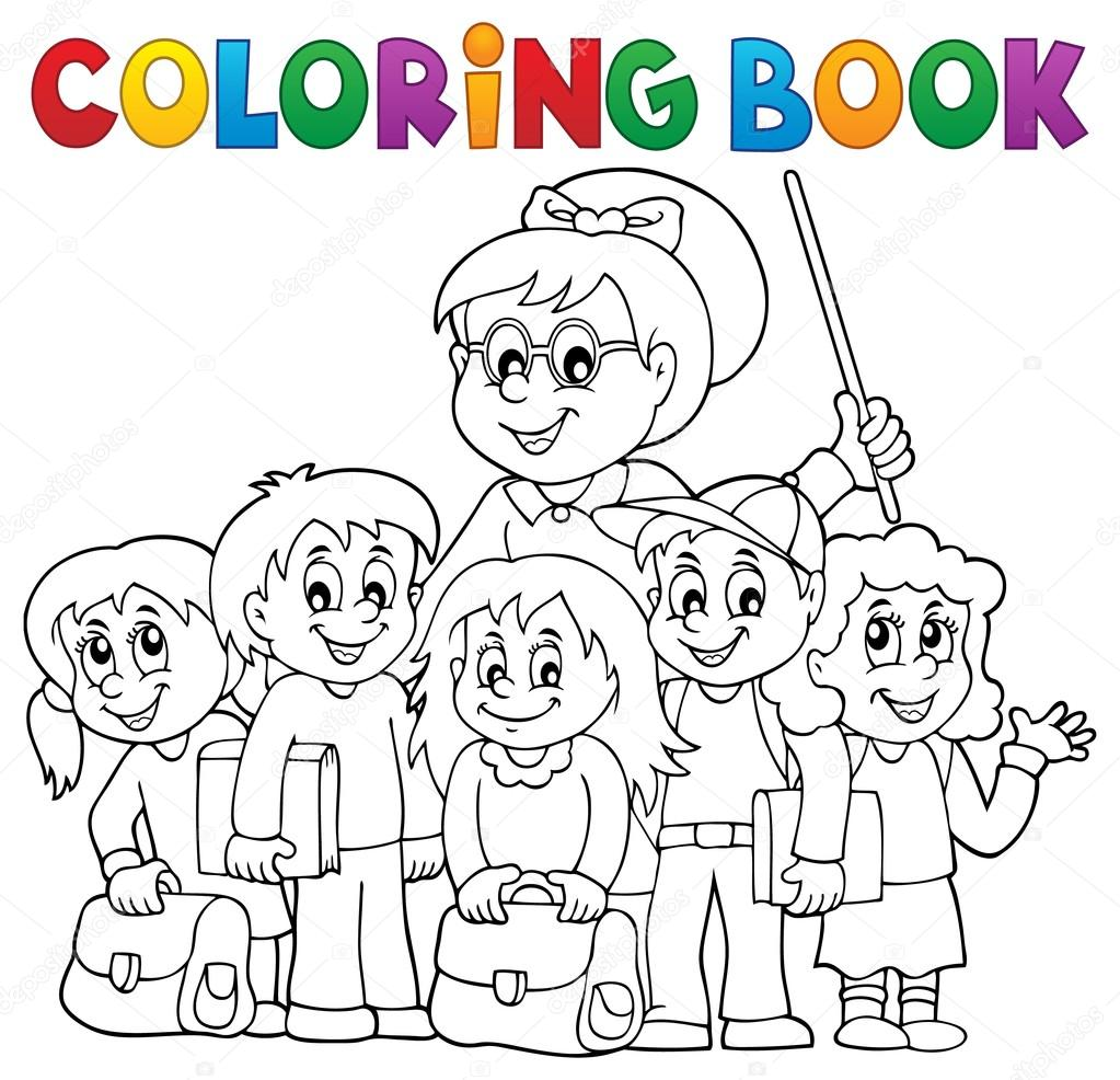 Coloring book school - Coloring Book School Class Theme 1 Eps10 Vector Illustration Vector By Clairev