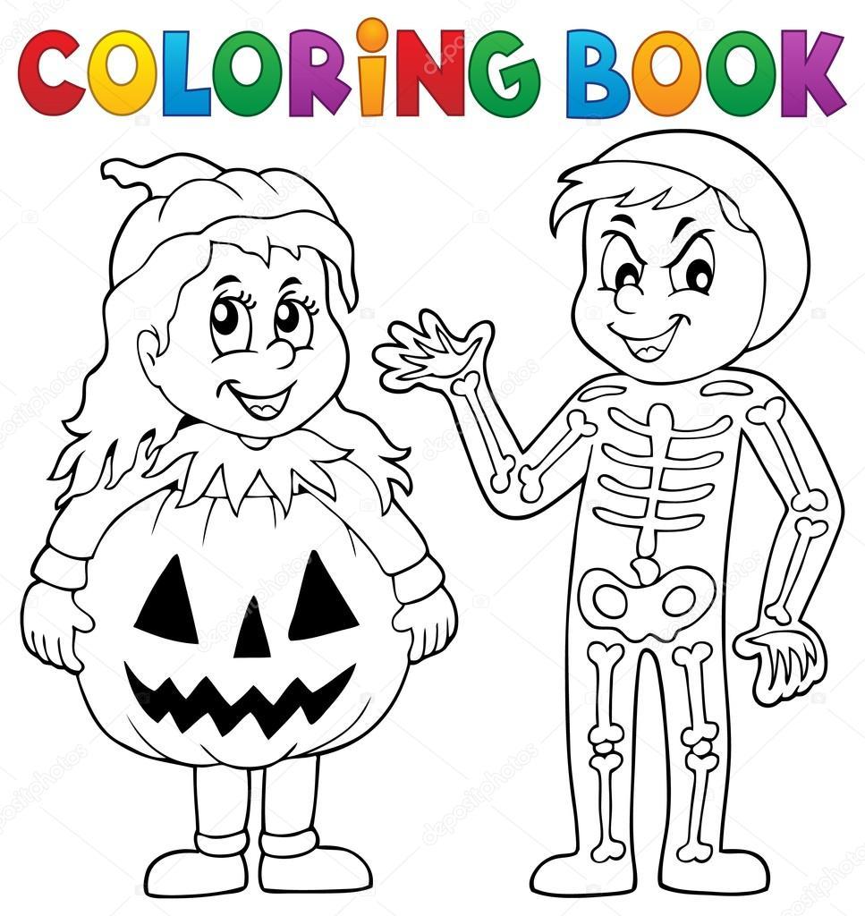 Thema Kleurplaten Halloween.Boek Kleurplaten Kostuums Halloween Thema 1 Stockvector C Clairev