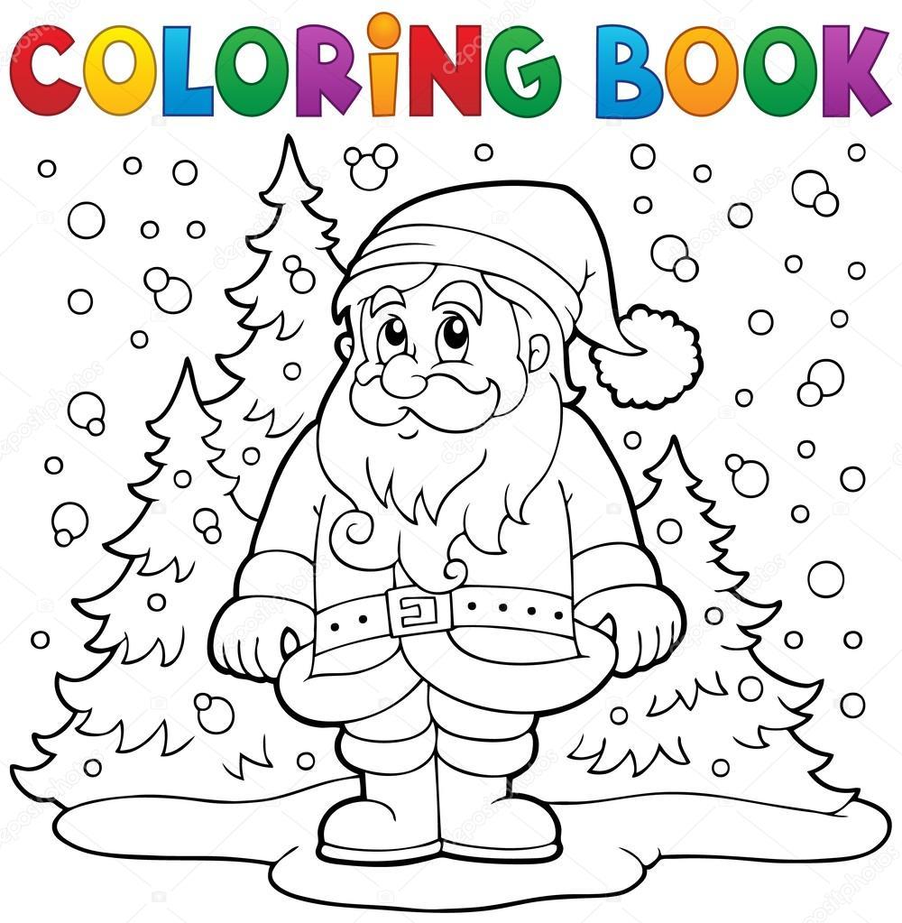Boyama Kitabı Noel Babaya Kar 3 Stok Vektör Clairev 60326925