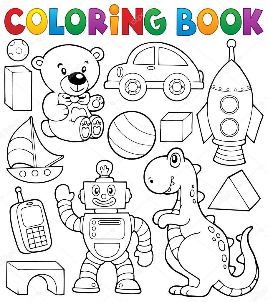 Libro para colorear con temática de juguetes 2 — Archivo Imágenes ...