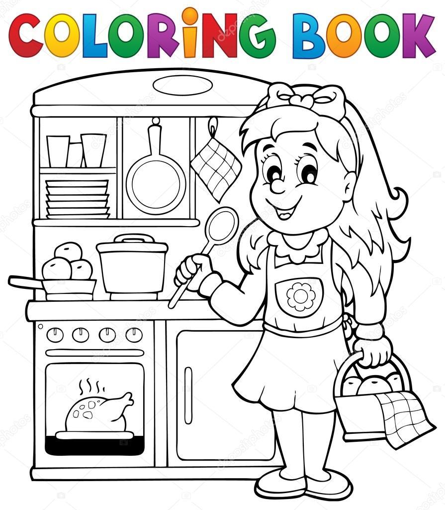 Boyama Kitabı çocuk Oyun Tema 1 Stok Vektör Clairev 66216651
