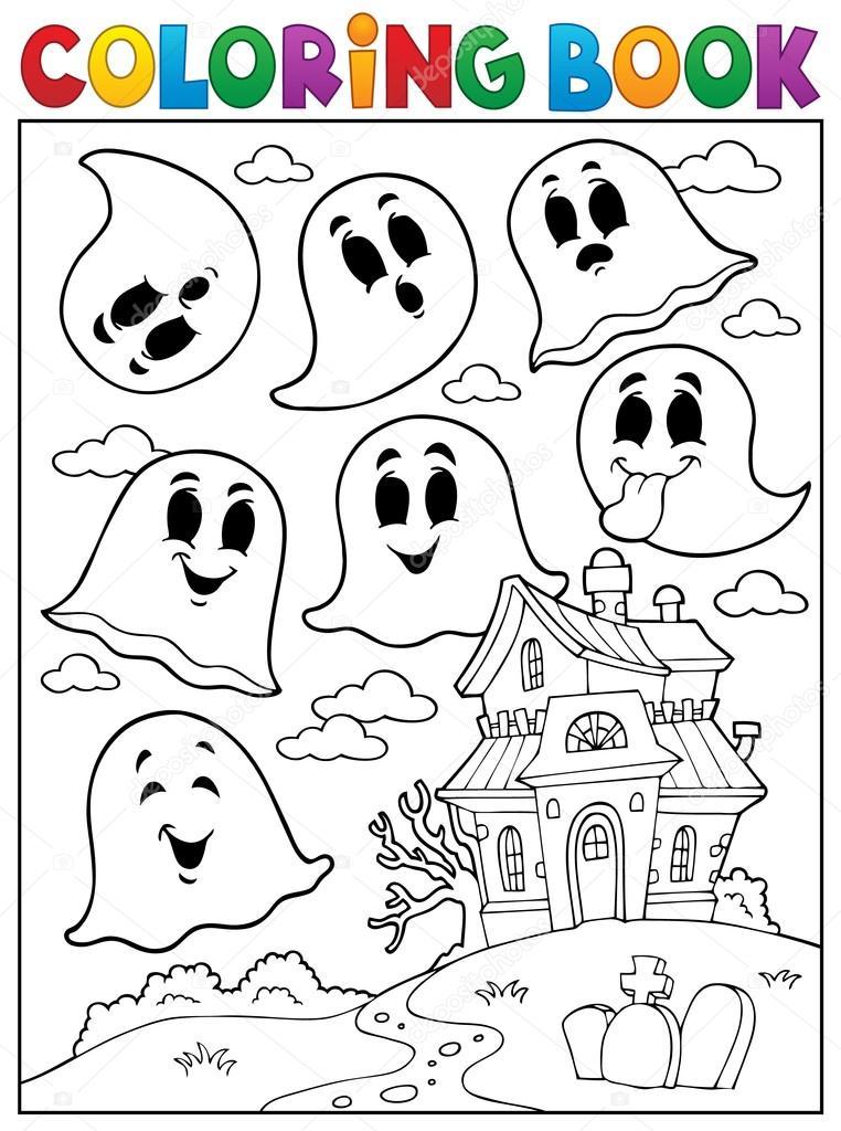 Colorear el tema ghost libro 4 — Archivo Imágenes Vectoriales ...