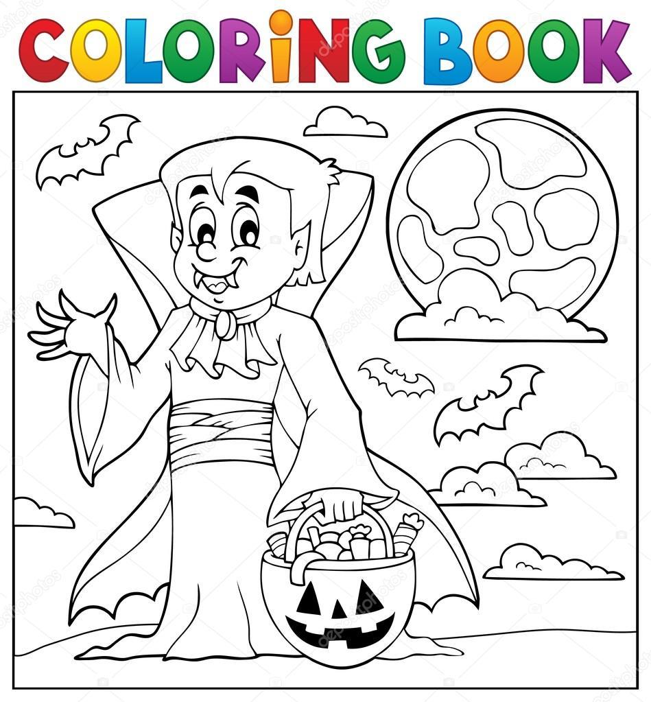 Imágenes Vampiros Para Colorear Libro Para Colorear Vampiro