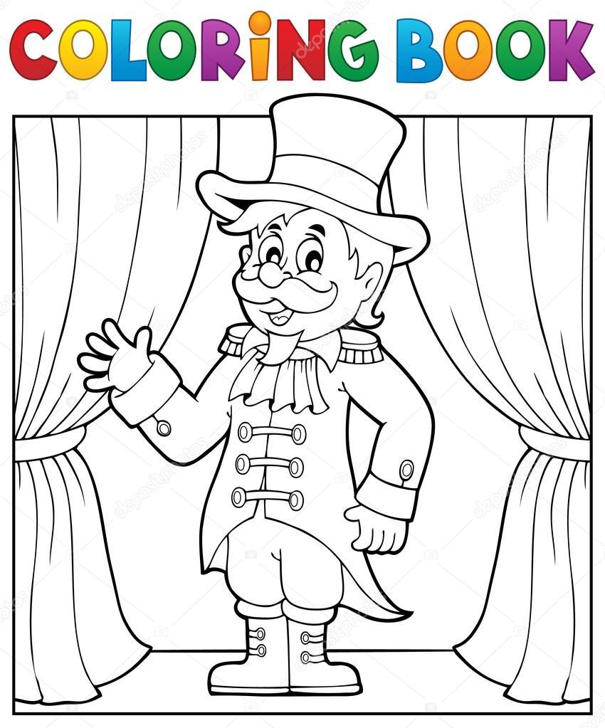 Coloring book circus ringmaster theme 1 — Stock Vector © clairev ...