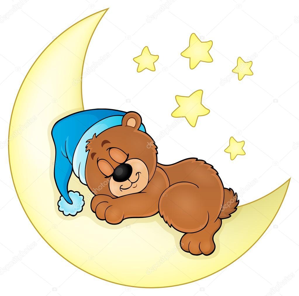 Schlafender Bär Thema Bild 4 — Stockvektor © clairev #93059322