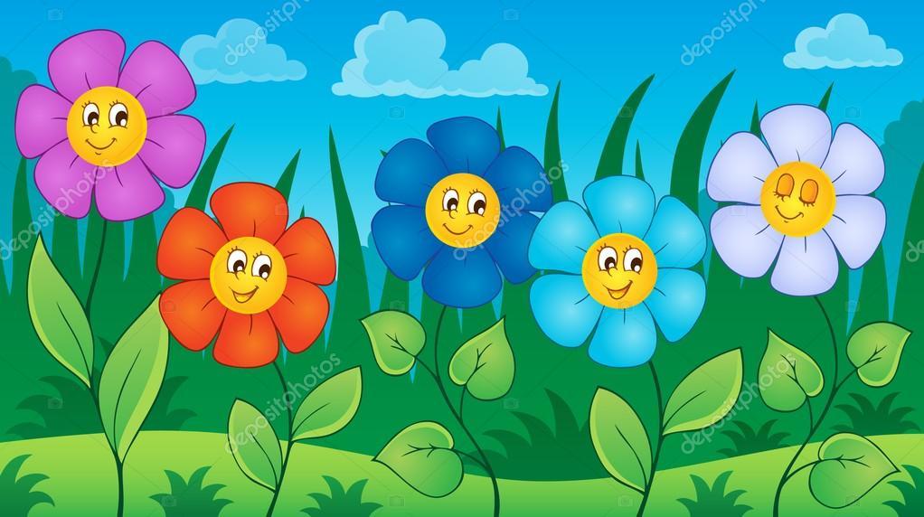 Цветы на тему луга 6 — Векторное изображение © clairev ...