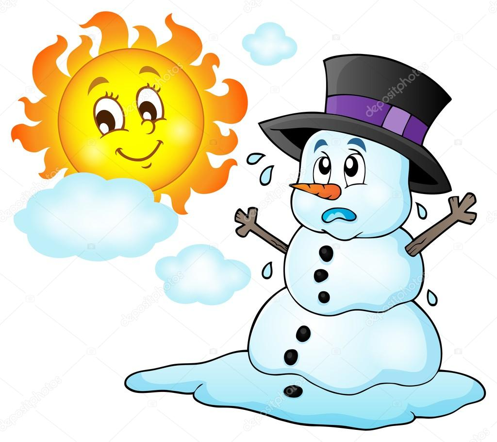 Melting snowman theme image 1 — Stock Vector © clairev #94197390 for Melting Snowman Clipart  177nar
