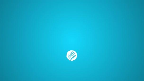 Symbol, das mit Kreide mit dem Wi-Fi-Punkt verbunden ist, handgezeichnete Animation 4k