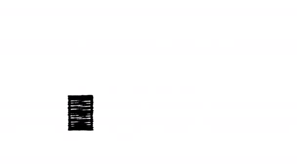 Symbol auf Zelle Netzwerk, das Niveau des Signals, malte mit Kreide, hand gezeichneten Animation 4k