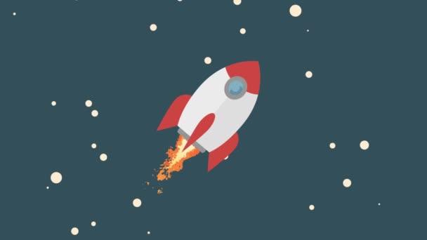 létající raketa v prostoru
