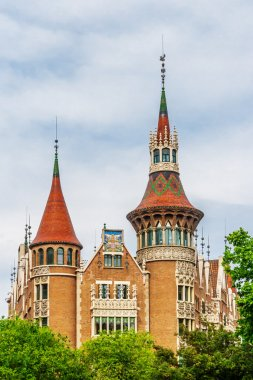 Traditional architectures in Barcelona, Catalonia, Spain.