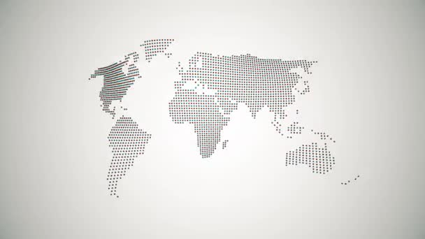 pulsující mapa planety Země