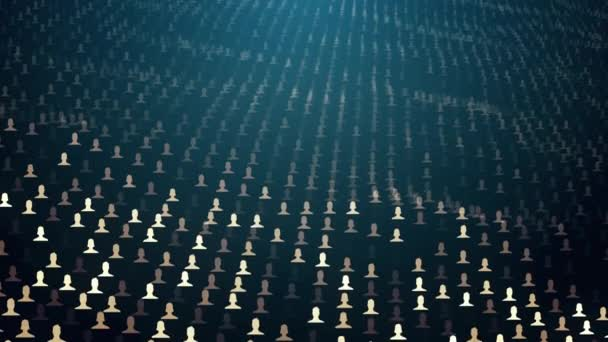 waved field of avatars of men and women