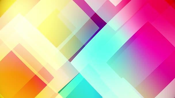 bunte Kreise und Quadrate Video-Hintergrund glasig und transparent kreisförmige Formen