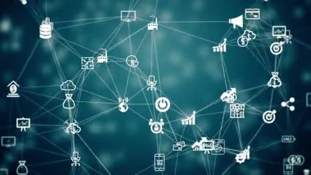 Internet věcí, pozadí chaoticky pomalé přesouvání připojené věci