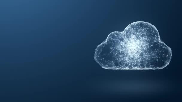 cloud computingu od chaoticky pomalu pohybující propojených bodů, technologie cloud, cloud skladování, internet věcí