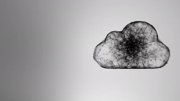 Cloud computing-től kaotikusan lassú mozgó kapcsolódó pontokat, cloud technológia, cloud tárolás, tárgyak internete