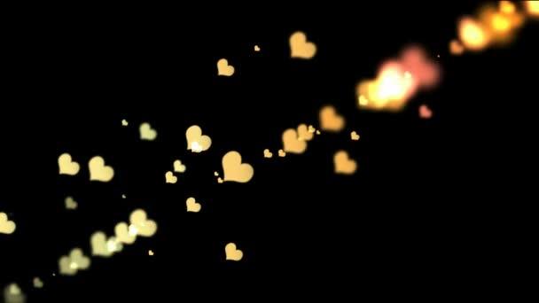 színes bokeh szívek