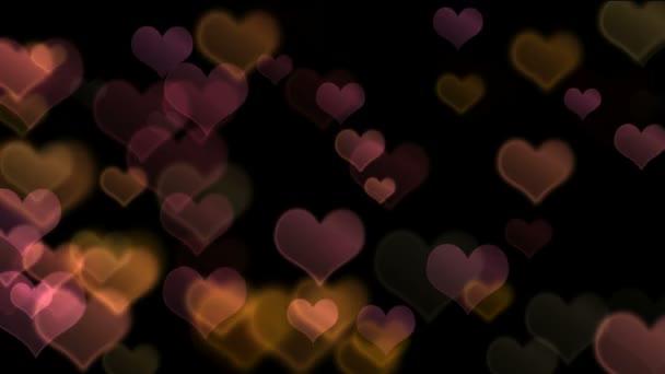 Zářící srdce bokeh