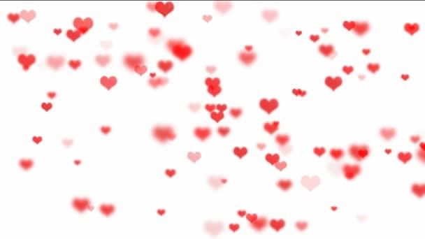 plovoucí červená srdce