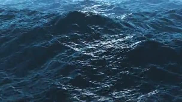 zvlněné mořské vody