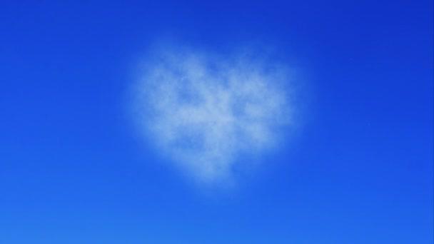 Bílé srdce z mraku