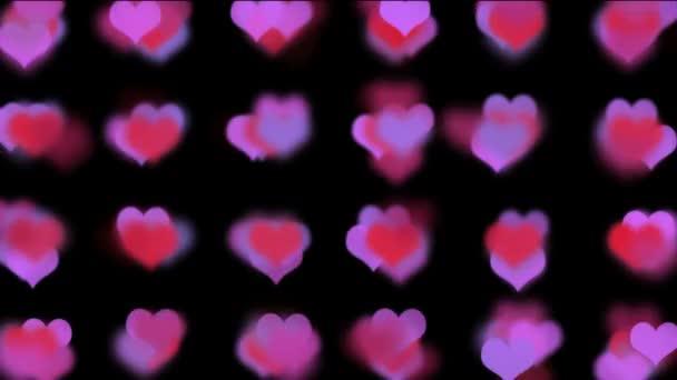 vörös és rózsaszín szív
