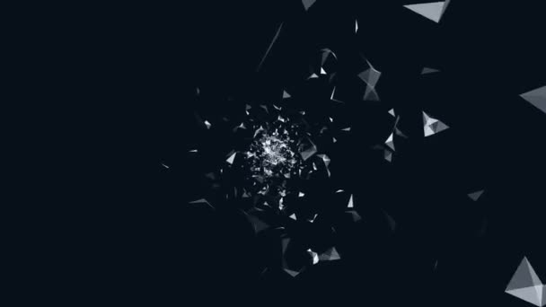 Flight of geometric shapes