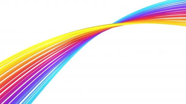 Abstraktní barevné stočené linie, smyčka 4k