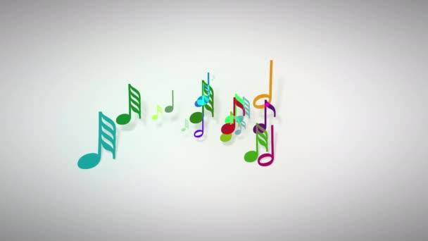 Slow motion delle note musicale con profondità di campo 4K