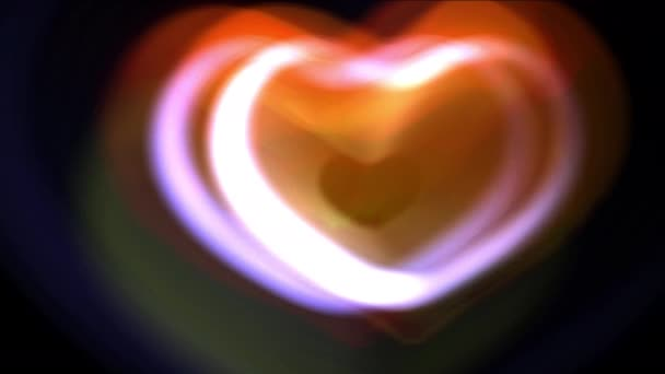 Zpomalený pohyb a transformace srdce s hloubkou ostrosti, den svatého Valentýna pozadí. 4k