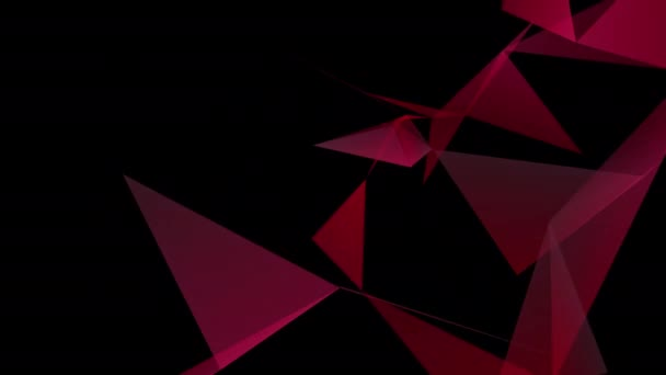 Abstract geometric composition with depth of field, triangles