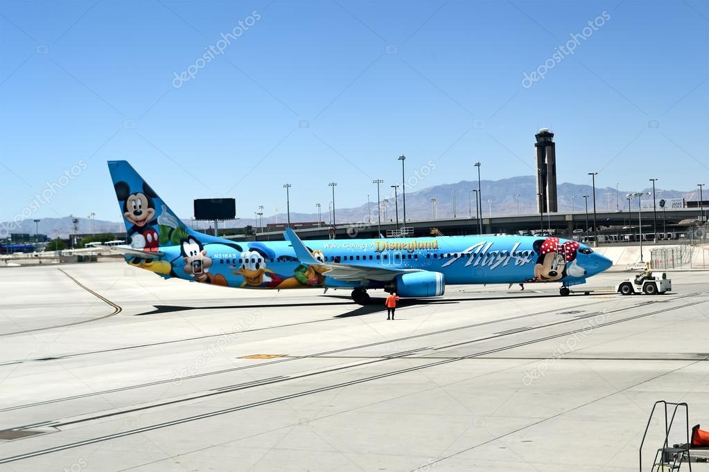 Alaska Airlines in McCarran international airport in Las Vegas, Nevada, USA.