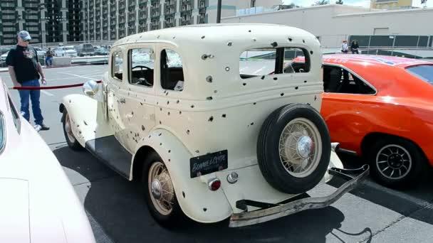 Bonnie And Clyde Damaged Cinema Car Viva Las Vegas Car Show 2016