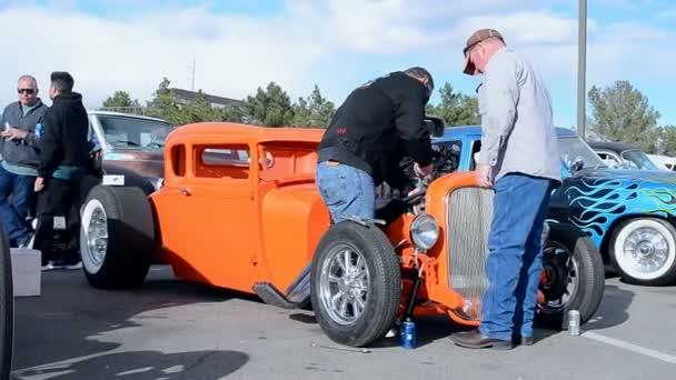 Driver Fixing The Car Viva Las Vegas Car Show In Las Vegas - Viva las vegas car show
