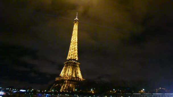 Eiffel tower Light Performance Show in Paris, France.