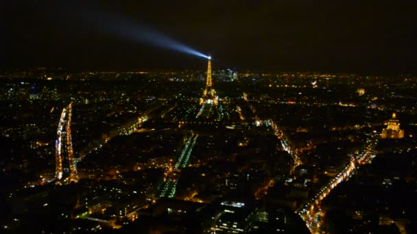 Eiffel tower Light Performance Show in Paris, France.