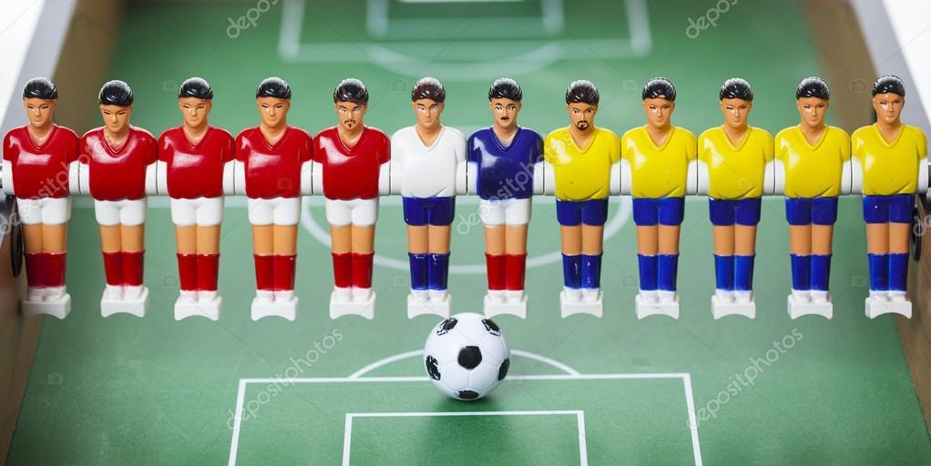 Table de football joueurs baby-foot– images de stock libres de droits 29acdfb43b07