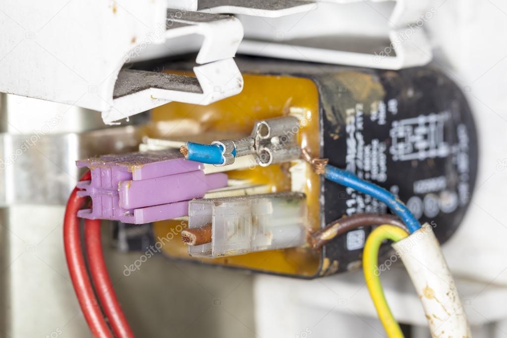 Draht-Schaltungen Controller Waschmaschine Reparatur — Stockfoto ...