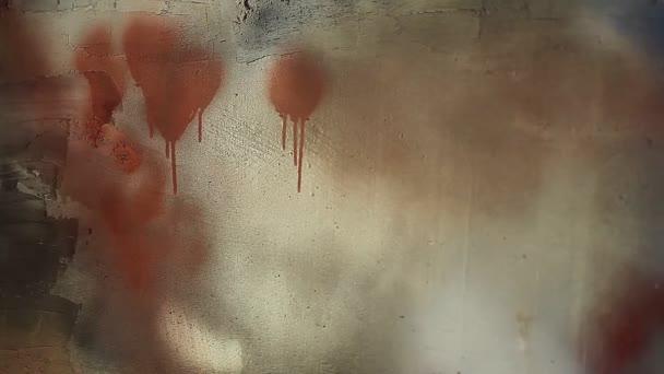 grunge malované zdi