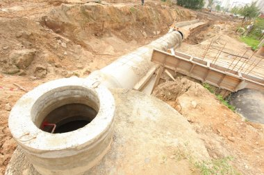 Collector concrete pipes