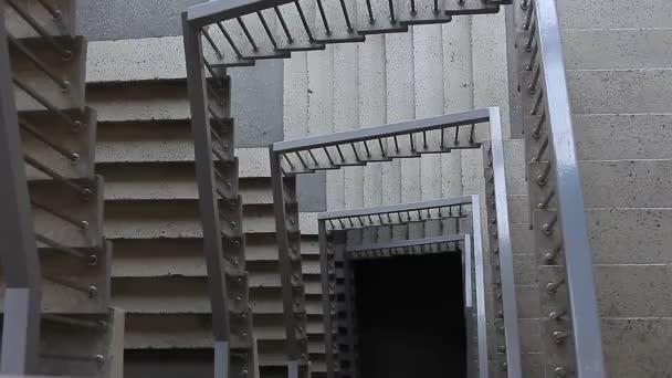Rozsahy schodiště v budově