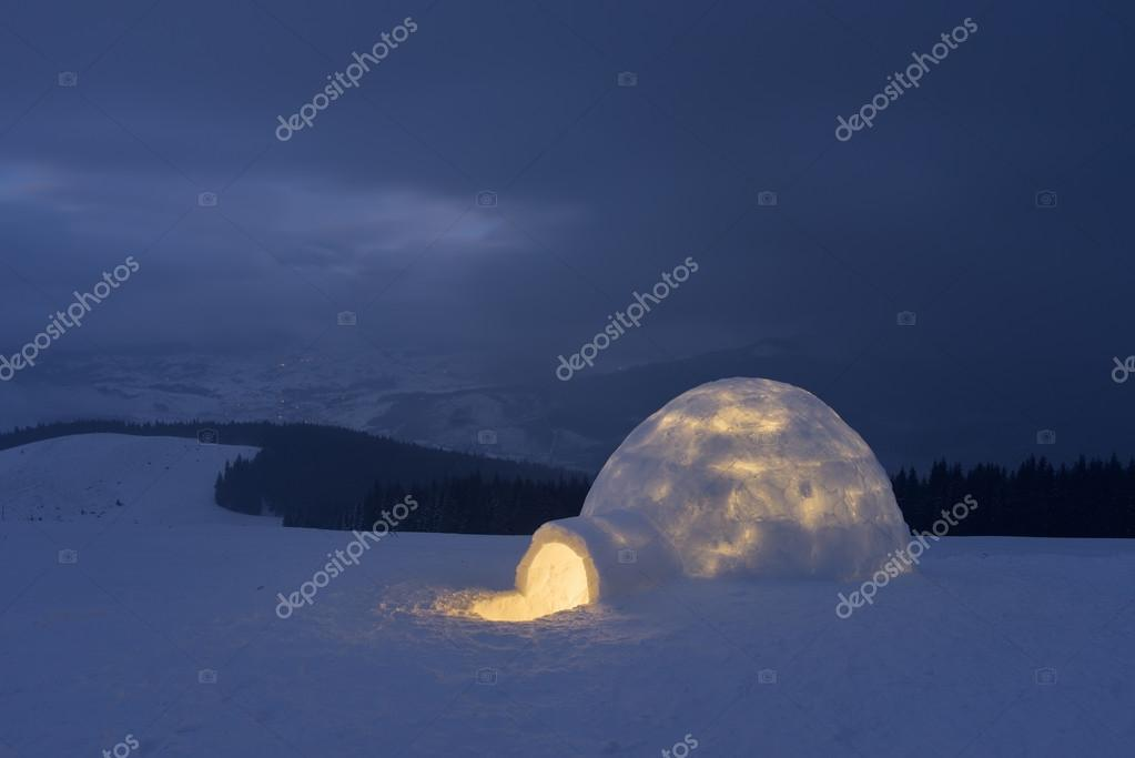 Snow igloo in mountains