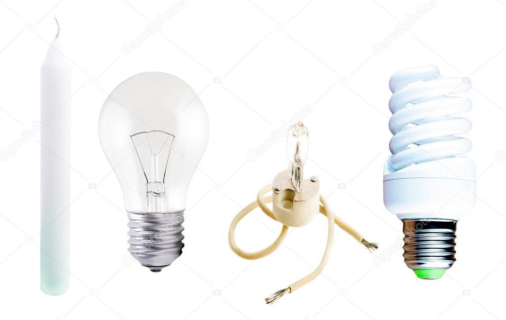 Diversi tipi di lampade e candele u foto stock gorvik