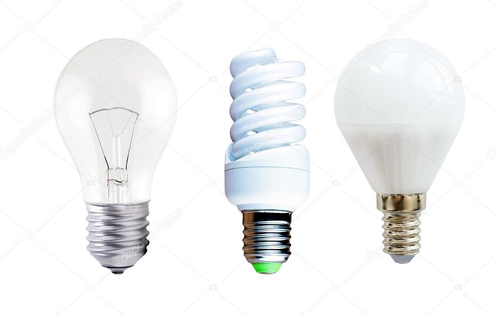 Lampada a led lampade fluorescenti e ad incandescenza u foto