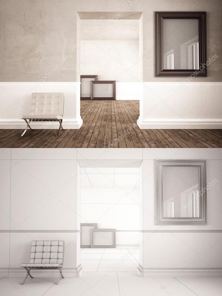 Maqueta de marco interior — Fotos de Stock © jordygraph #85001280