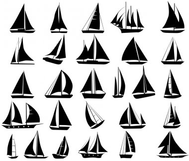 Set  of yachts